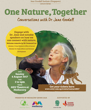 The JGIS Lecture Series was launched in 2017 during Dr. Jane Goodall's visit to Singapore.